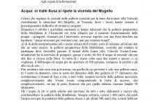 """Pro Natura Piemonte, """"acqua: in Valle Susa si ripete la vicenda del Mugello"""""""