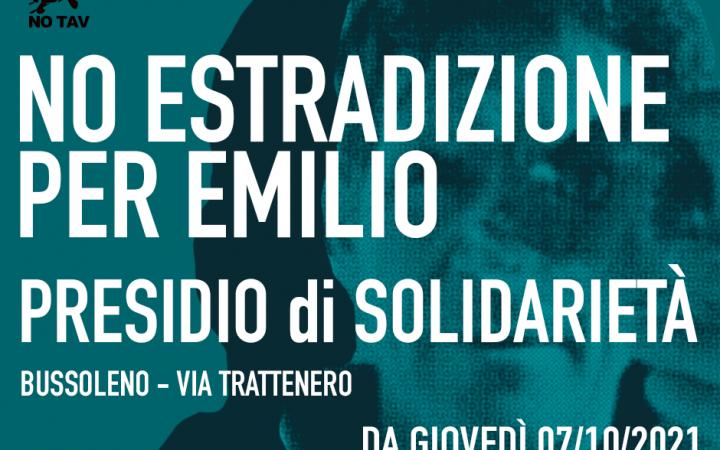 CON EMILIO SEMPRE: PRESIDIO A BUSSOLENO DAL 7/10 DALLE ORE 11