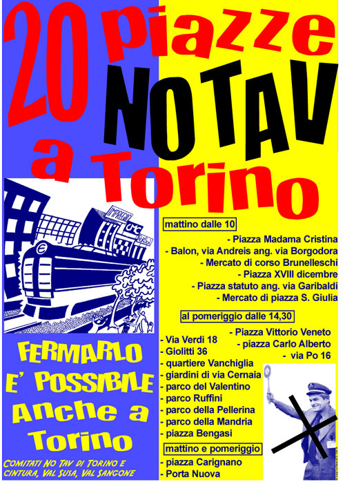 20 PIAZZE NO TAV A TORINO!