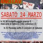 Sabato 24 marzo volantinaggio a Saluzzo e presidio davanti al carcere