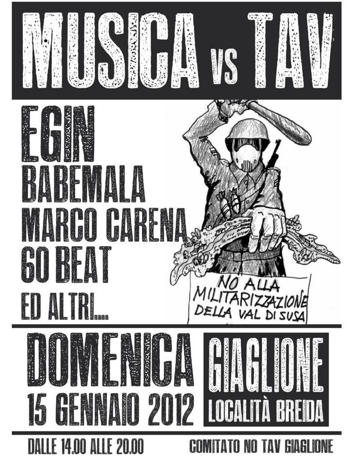 15/1 GIAGLIONE H.14 CONCERTO: MUSICA vs TAV