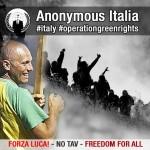 Anonymous a fianco di Luca e della Val Susa. Attaccati i siti di polizia e carabinieri