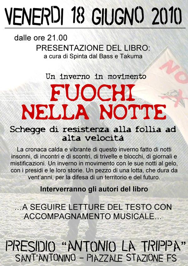 18/06 Presentazione di FUOCHI NELLA NOTTE