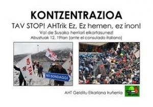 Solidarietà alla resistenza No Tav dai Paesi Baschi