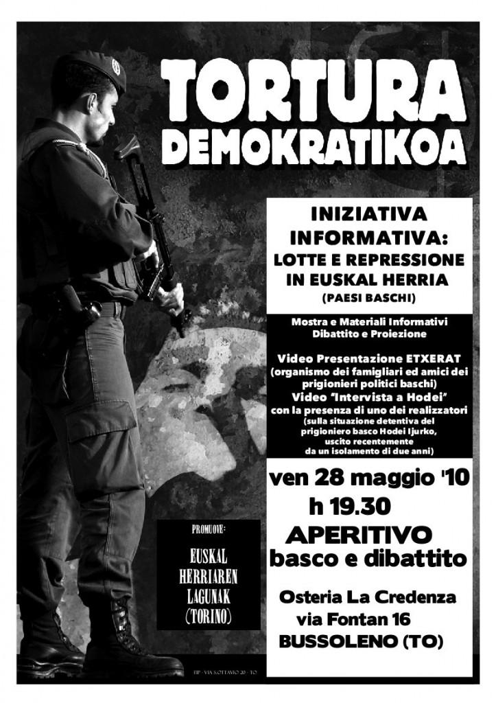 28/5 aperitivo basco e dibattito