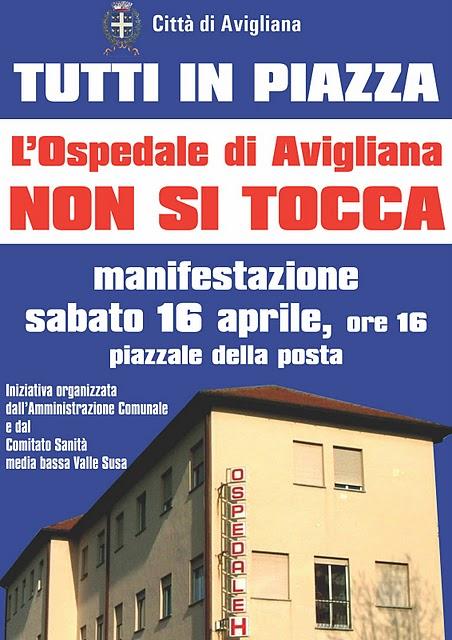 L'Ospedale di Avigliana non si tocca!