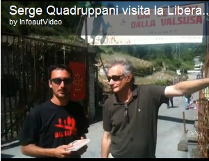SERGE QUADRUPPANI AL PRESIDIO NO TAV CHIOMONTE GUARDA IL VIDEO