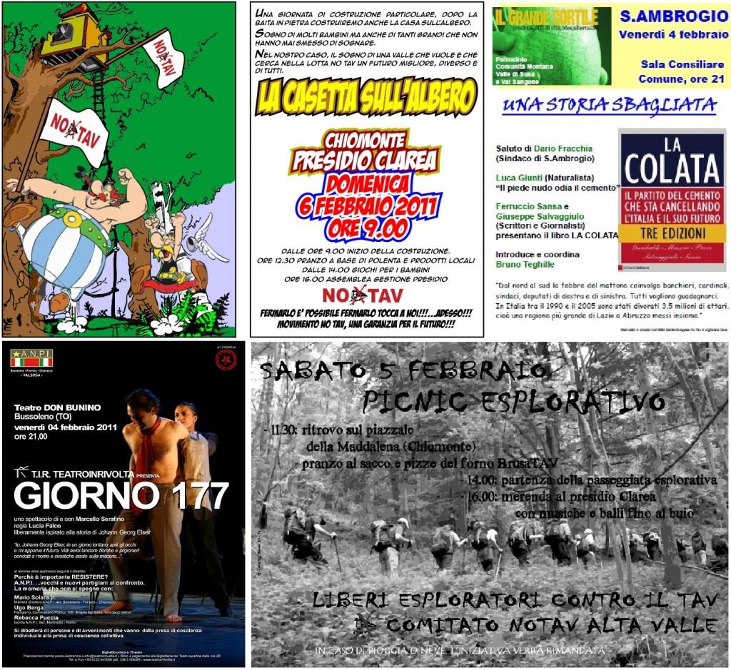 RIEPILOGO APPUNTAMENTI DEL WEEK END 4-5-6 FEBBRAIO 2011