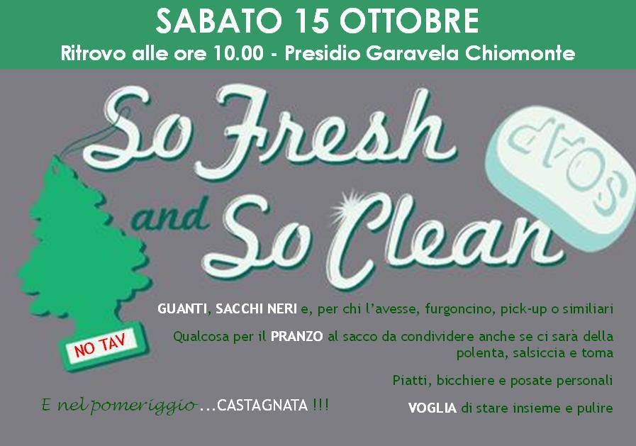 Per chi il 15 non và a Roma…SO FRESH end SO CLEAN!