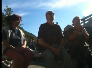"""VIDEO: Haidi Giuliani al campeggio notav """"Il g8 oggi è alla Maddalena"""""""