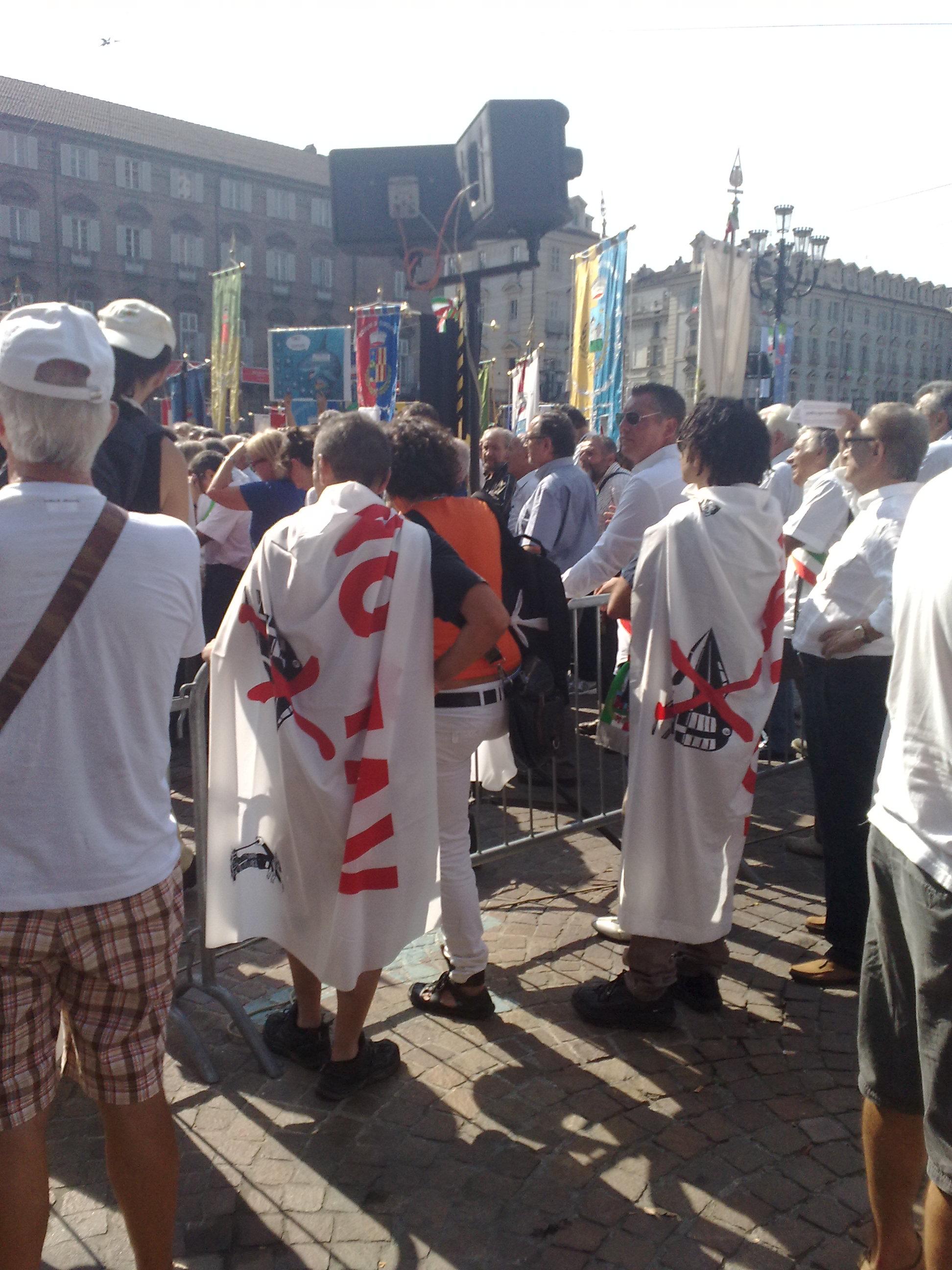 No Tav Torino 22 agosto. Contestato Saitta, presidente della provincia(vedi FOTO)