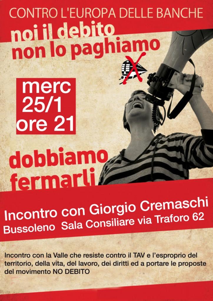25/1 Giorgio Cremaschi a Bussoleno
