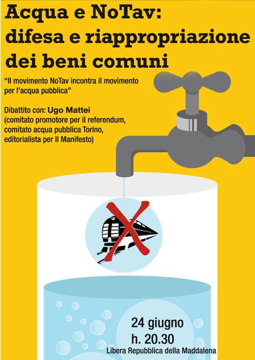 24/6 Il movimento NoTav incontra il movimento per l'acqua pubblica