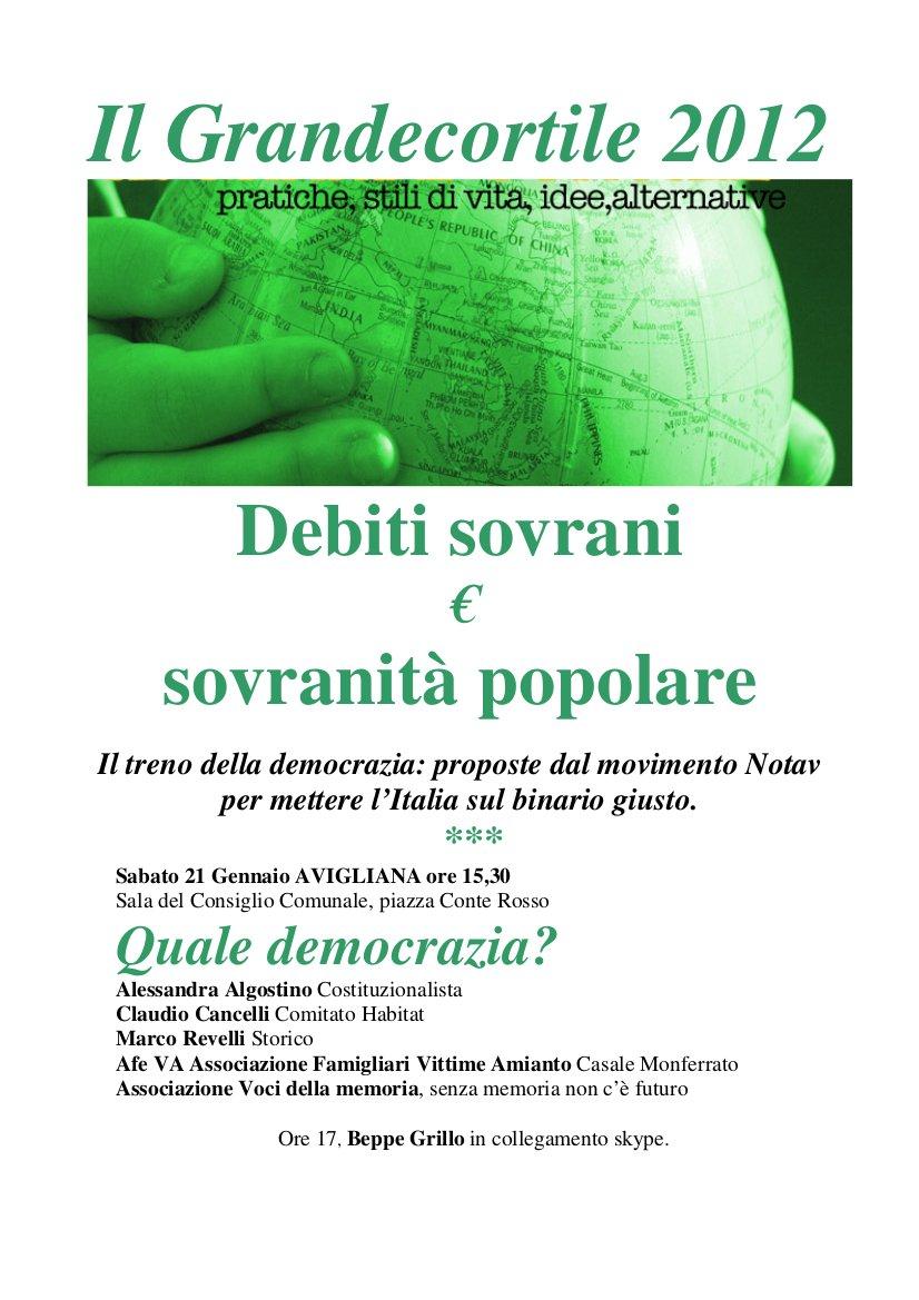 GRANDE CORTILE 2012 ECCO IL PROGRAMMA