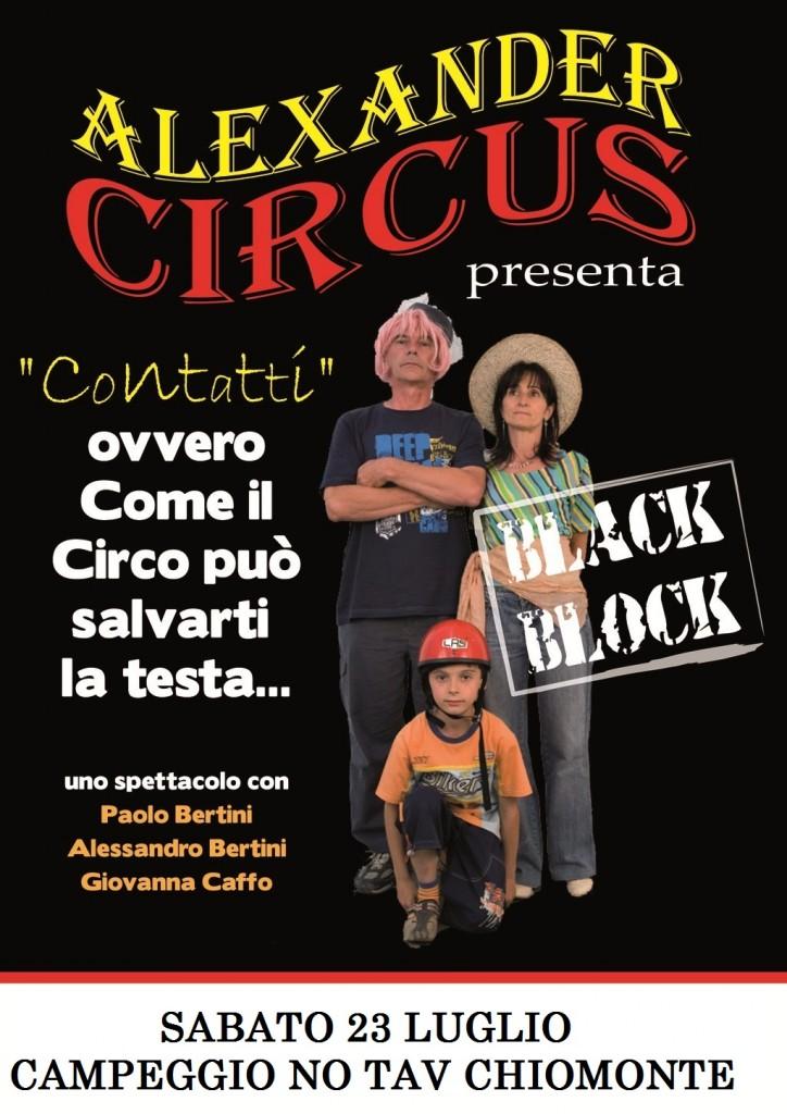 SABATO 23 ORE 16.00 ALEXANDER CIRCUS AL CAMPEGGIO NO TAV CHIOMONTE