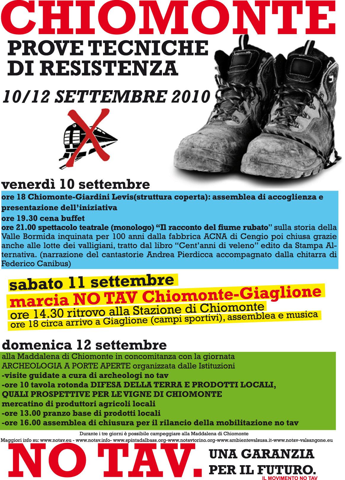 10/12 settembre 2010 - Prove tecniche di Resistenza