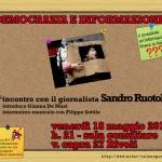 DEMOCRAZIA E INFORMAZIONE  dibattito con Sandro Ruotolo a Rivoli