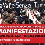 Terzo Valico Notav! Manifestazione sabato 26 ad Arquata Scrivia