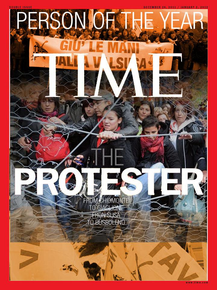 """La persona dell'anno di Time è """"The Protester"""" il manifestante #notav!"""