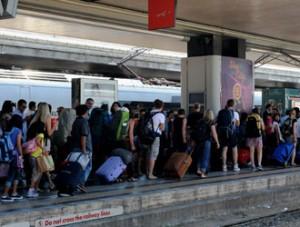 Deraglia un Frecciargento Migliaia di turisti bloccati