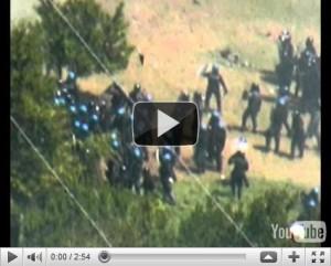 VIDEO SHOCK 3 LUGLIO CHIOMONTE VIOLENZA POLIZIA SUI MANIFESTANTI